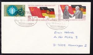 BERLIN-FRANKFURT/ODER BAHNPOST Zug 12-1 28.7.76 auf Brief