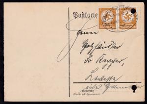 HANNOVER-WEETZEN-HASTE BAHNPOST Zug 1667 9.12.38 auf Dienstpostkarte