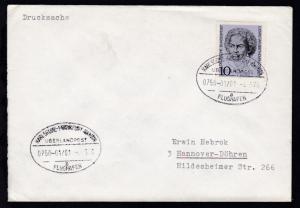 KARLSRUHE-FRANKFURT AM MAIN FLUGHAFEN ÜBERLANDPOST a 0750-01/01 4.5.70 auf Brief