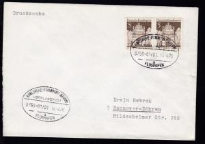 KARLSRUHE-FRANKFURT AM MAIN FLUGHAFEN ÜBERLANDPOST a 0750-01/01 14.4.70