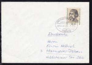 KARLSRUHE-FRANKFURT AM MAIN FLUGHAFEN ÜBERLANDPOST a 0750-01/01 9.1.73 auf Brief