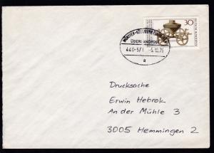 MÜNSTER-KÖLN/BONN FLUGHAFEN ÜBERLANDPOST a 440-5/1 5.10.76 auf Brief