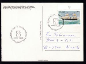 Sonderstempel REYKJAVIK 1912-1992 SKATASTARF A ISLANDI 80 ARA 2. NOV. 1992