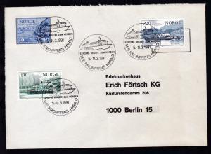MS KRONPRINS HARALD EUROPAS BRÜCKE ZUM NORDEN 5.-11.3.1991 auf Brief,