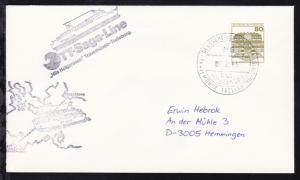 DEUTSCHE SCHIFFSPOST MS NILS HOLGERSSON TRAVEMÜNDE-TRELLEBORG-LINIE 7.2.83 +