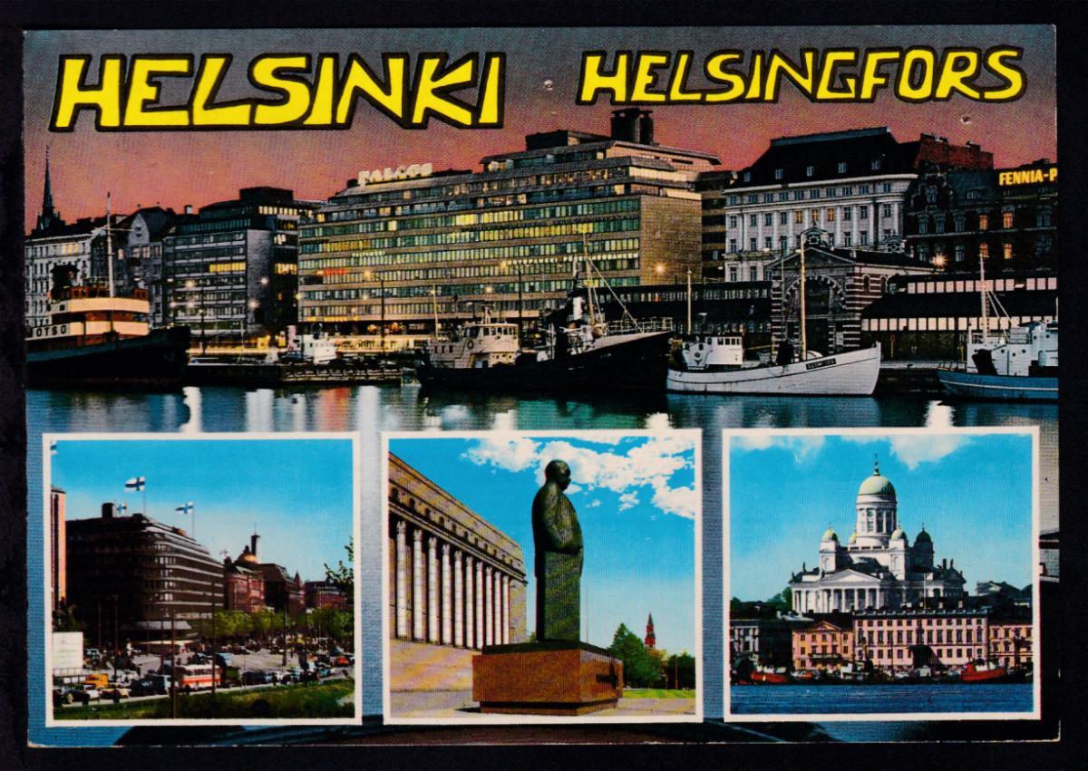 HELSINKI HELSINGFORS TRAVEMÜNDE HELSINKI HELSINGFORS FINNJET 5.1.85 auf CAK 1