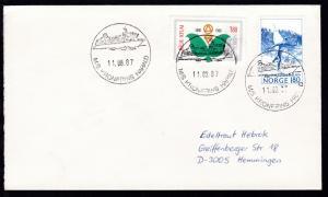 M/S KRONPRINS HARALD 11.08.87 auf Brief