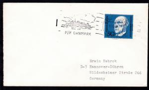 RÖDBY-FEHMERN PAQUEBOT 13.6.68 M/F DANMARK auf Brief