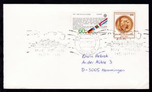 RÖDBY-FEHMERN PAQUEBOT 29.7.82 M/F PRINS HENRIK auf Brief