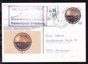 TRAVEMÜNDE-TRELLEBORG TRELLEBORG POSTAD OMBORD 6.5.93 + Cachet
