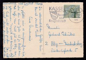 Kassel Maschinenstempel KASSEL 7 35 6.10.62 KASSEL Kunst- und Kongreßstadt
