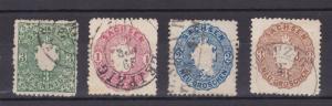 Wappen 4 Marken 3 Pfg. - 3 Ngr.