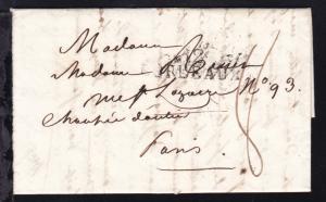 1815 L1 BORDEAUX auf Brief nach Paris