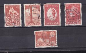 1952/55 5 verschiedene Ausgaben
