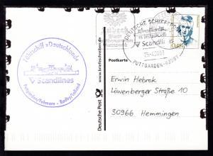 DEUTSCHE SCHIFFSPOST FS DEUTSCHLAND Scandlines PUTTGARDEN-RÖDBY 25.4.2003 +