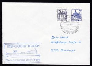DEUTSCHE SCHIFFSPOST MS Robin Hood TT-Line TRAVEMÜNDE-TRELLEBORG 03.11.89 +