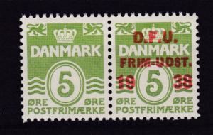10. Dänischer Philatelistentag, Paar mit und ohne Aufdruck