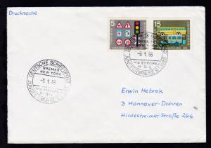 DSP BREMEN NEW YORK MS EUROPA N.D.L JUNGFERNREISE 9.1.1966 9.1.66 auf Bf.