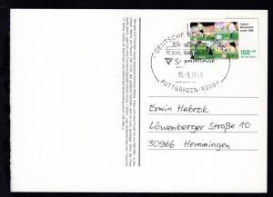 DEUTSCHE SCHIFFSPOST FS SCHLESWIG-HOLSTEIN Scandlines PUTTGARDEN-RÖDBY 15.9.1999
