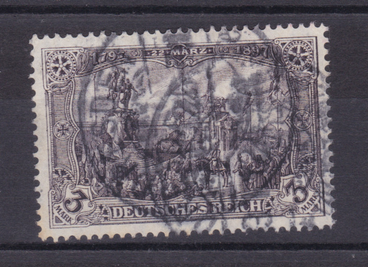 Freimarke 3 M. Kriegsdruck, Marke Nadelloch 0