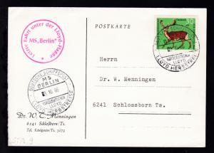 DEUTSCHE SCHIFFSPOST MS BERLIN NORDDEUTSCHER LLOYD LLOYD-HERBSTREISE 3.10.66  +