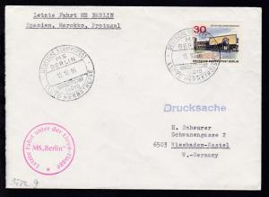 DEUTSCHE SCHIFFSPOST MS BERLIN NORDDEUTSCHER LLOYD LLOYD-HERBSTREISE 15.10.66  +