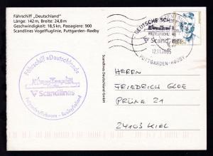DEUTSCHE SCHIFFSPOST FS DEUTSCHLAND Scandlines PUTTGARDEN-RÖDBY 12.11.2005 +