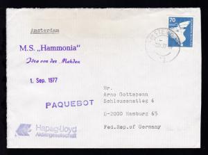 L1 PAQUEBOT + OSt. Amsterdam 2.IX.77 + L1 M.S.