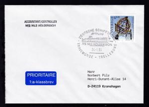DEUTSCHE SCHIFFSPOST TT-Line MS NILS HOLGERSSON TRAVEMÜNDE-TRELLEBORG 24.1.96 +