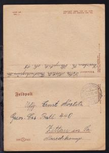 FRIEDRICHSGRÜN über ZWICKAU (SACHS) 2 a 22.6.43 auf Feldpost-Kartenbrief