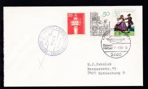 DEUTSCHE SCHIFFSPOST MS Robin Hood TT-SAGA-LINE TRAVEMÜNDE-TRELLEBORG 08.02.86 +