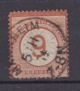Adler mit großem Schild 9 auf 9 Kr. mit K1 MANNHEIM  5.11.74