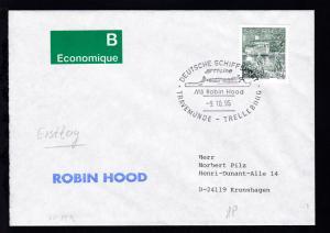 DEUTSCHE SCHIFFSPOST TT-Line MS Robin Hood TRAVEMÜNDE-TRELLEBORG 9.10.95 + L1