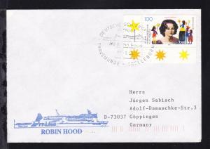 DEUTSCHE SCHIFFSPOST TT-Line MS Robin Hood TRAVEMÜNDE-TRELLEBORG 30.1.96 +