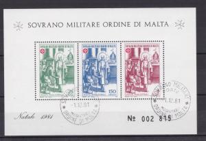 Malteserorden Weihnachten 1981 Blockausgabe