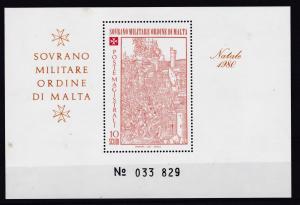 Malteserorden Weihnachten 1980 Blockausgabe, **