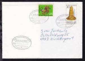 ULM-IMMENDINGEN BAHNPOST a ZUG 63355 23.9.77 auf Brief