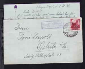 OSt. Greifenberg (Schles.) 1.10.34 + R2 Wigandsthal (Gasthof) über