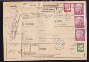 Heuss 3 DM (senkr. Dreierstreifen) und Bedeutende Deutsche 20 Pfg. und 2 DM