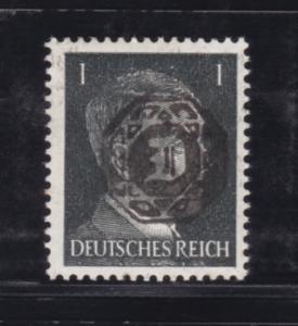 Hitler 1 Pfg. mit Aufdruck, *, Neudruck ?