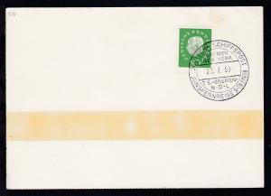 DEUTSCHE SCHIFFSPOST BREMEN-NEW YORK TS BREMEN NDL JUNGFERNREISE 9.-28.7.1959