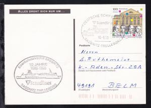 DEUTSCHE SCHIFFSPOST Scandlines Fährschiff SASSNITZ SASSNITZ-TRELLEBORG 10.8.99