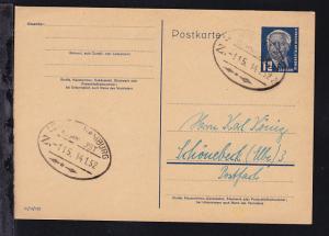 LEIPZIG-HAMBBURG BAHNPOST Z. 115 14.1.52 auf Ganzsache, Sammlerkarte Karl König