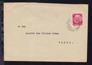 SANKT PÖLTEN-LEOBERSDORF-WIEN 145 10.V.41 auf Brief, Brief kleiner Einriss