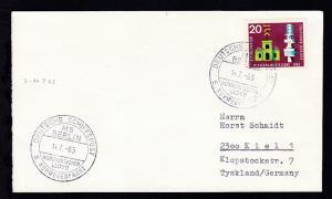 DEUTSCHE SCHIFFSPOST MS BERLIN NORDDEUTSCHER LLOYD 5. NORWEGENFAHRT 4.7.65