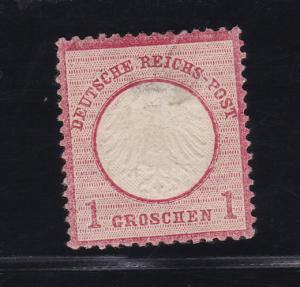 Adler mit kleinem Schild 1 Gr., *, dünne Stelle