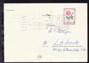 RÖDBY-FEHMERN PAQUEBOT 11.6.73 DANSK SÖPOST auf Postkarte