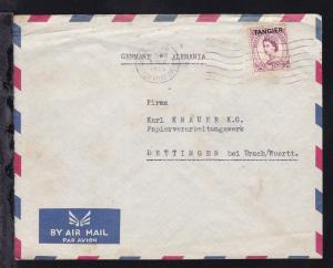 Königin Elisabeth II 6 P. mit Aufdruck TANGIER auf Firmenbrief (Magfa Tanger)