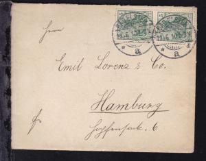 Germania 5 Pfg. Friedensdruck senkr. Paar auf Brief ab Bad Elster 13.6.10