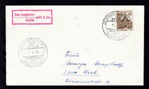 DEUTSCHE SCHIFFSPOST IRLANDFAHRT MS BERLIN NORDDEUTSCHER LLOYD 19.9.66 +